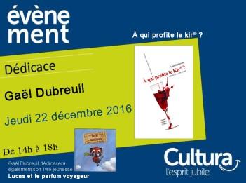 dedicace-gael-dubreuil-cultura