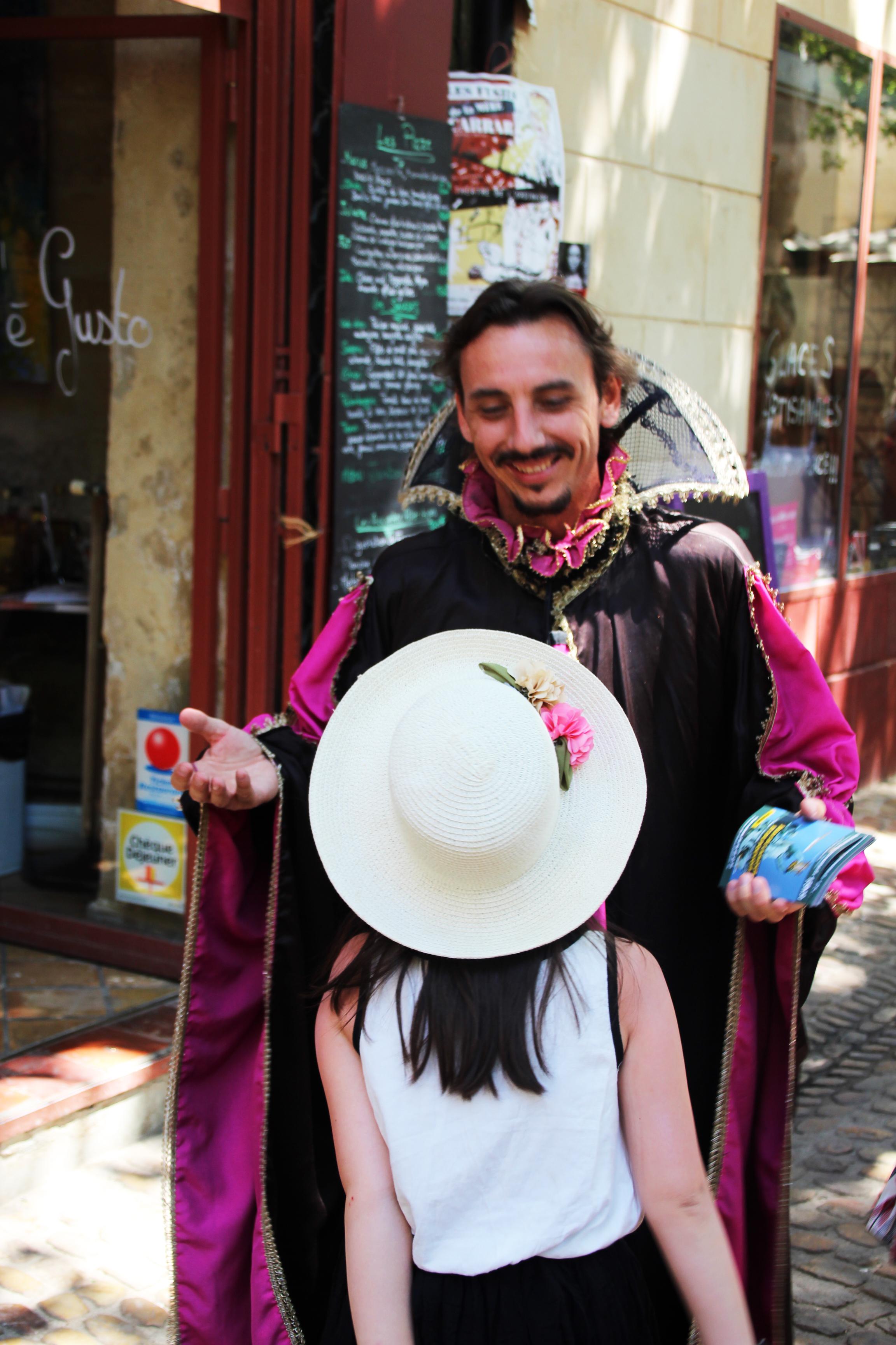 gael Dubreuil Parade jeux de l amour et du pouvoir avignon off