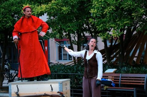 Le cardinal de Richelieu et d'Artagnan