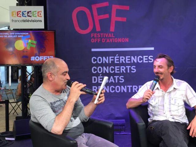 Gaël dubreuil serge casas interview village du off festival avignon.jpg